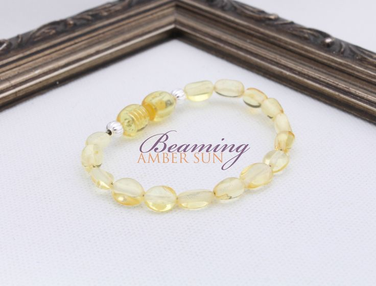 Lemon Amber Teething Bracelet by BeamingAmberSunLLC on Etsy https://www.etsy.com/listing/255335104/lemon-amber-teething-bracelet