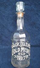 Vintage Jack Daniels Gold Medal Old No. 7 Whiskey Bottle Decanter 1971 1/2 Gal