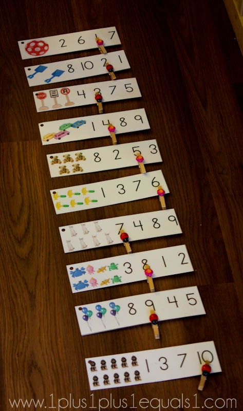 IDEA FOR PRACTICE COUNTING PROJECT...assign a number for each child and have them choose and glue corresponding number of objects. Have them write 2-3 numbers to choose answers from.  Exchange with a friend and practice counting!