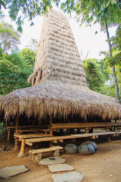 Sumba House exterior at Bambu Indah by  Delight Fine Art