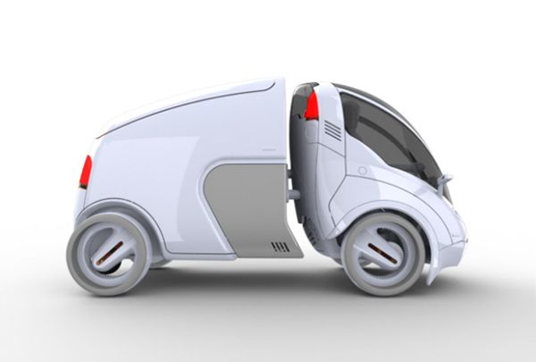 The Citi.Transmitter is a versatile urban-transportation concept that expands on the shared-vehicle solution by offering a mix of eco-friendly modular units for a variety of needs. Using an innovative smart-hitch system, users can easily attach modules to the primary 2-wheeled car to carry more passengers or cargo. About a 4th of the size of standard cars, the ultra-compact vehicle makes getting around heavily congested cities a cinch! *** SPECIAL USE VEHICLE ***