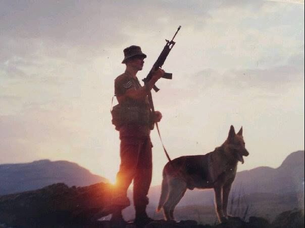 Dog handler with his best friend