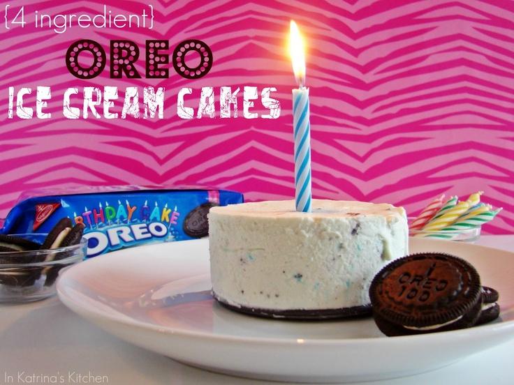 In Katrina's Kitchen: Oreo Ice Cream Cakes