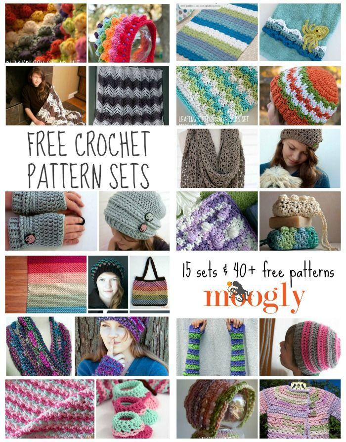 Great gift sets - free crochet patterns on Moogly! •✿• Teresa Restegui http://www.pinterest.com/teretegui/ •✿•