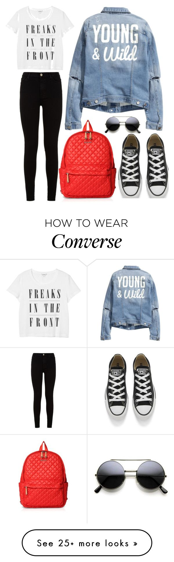 """""""#811"""" by infinito01 on Polyvore featuring Monki, H&M, 7 For All Mankind, M Z Wallace and Converse"""