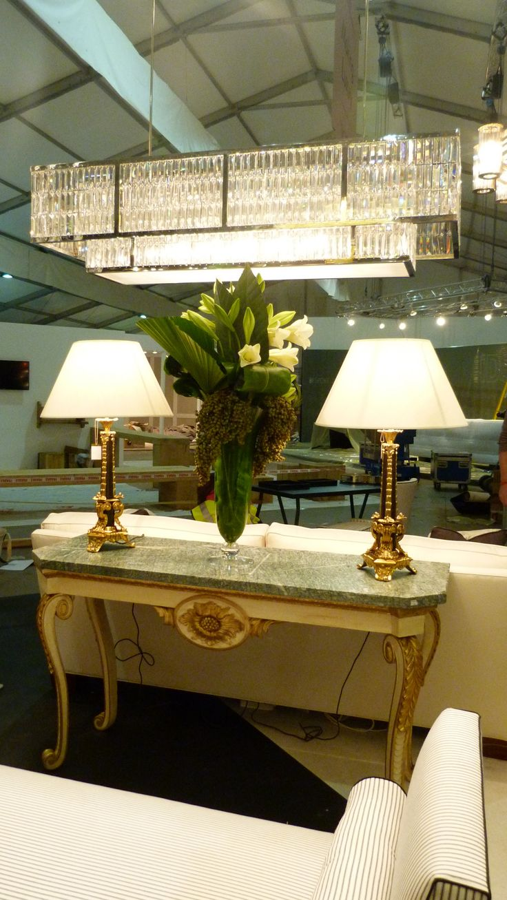 Millfield chandelier and Sultan table lamps