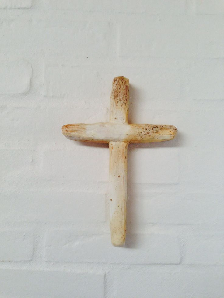 Ceramic Cross. Wood-fired with salt. Birgit Ravn Søndergaard