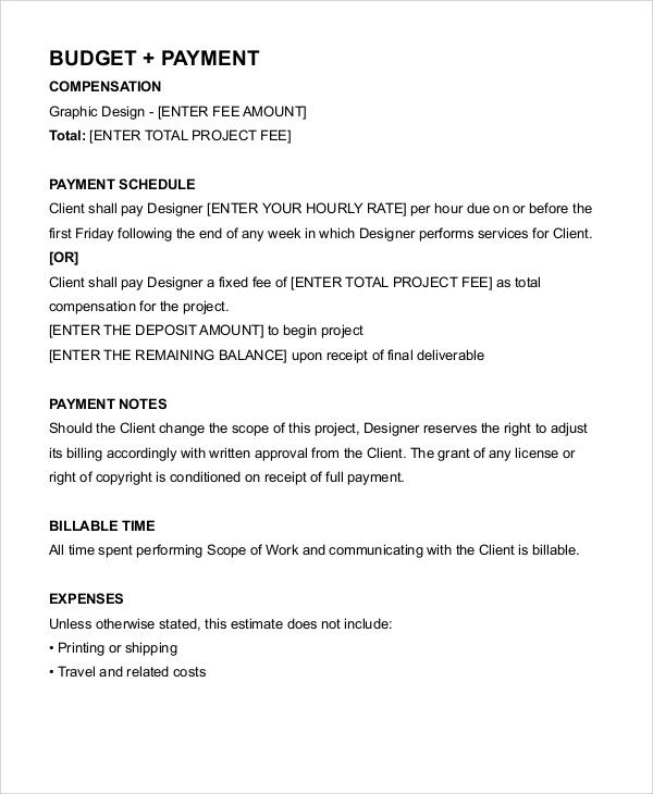 Graphic Designer Contract Freelance Contract Templates 7