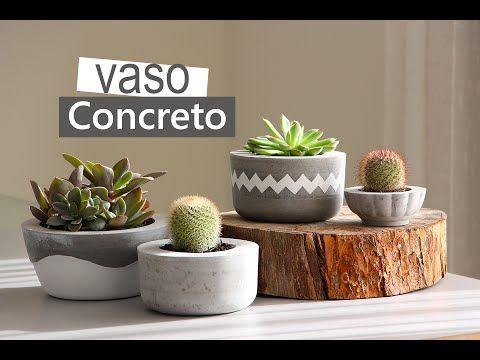 Como Fazer Vasos de Cimento Para Plantas – Passo a Passo   Revista Artesanato
