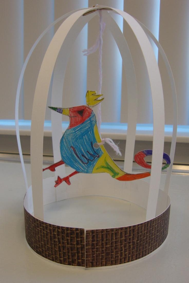 Ptáček v kleci - prostorová tvorba