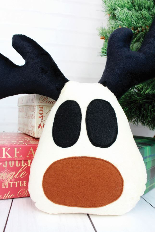 Christmas Sewing Craft Ideas Part - 38: Reindeer Cushion Project From The Linen And Lace Christmas Special Mag! /  Sewing / Sew