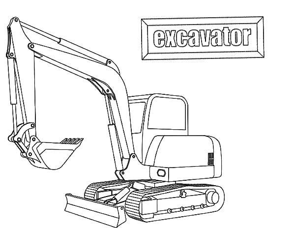 Coloring Excavator Pages Printable 2020 Di 2020