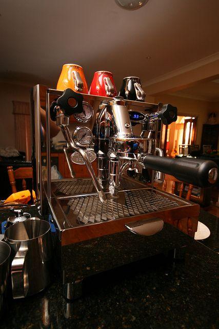 Izzo Alex Duetto II espresso machine with E61 grouphead. Photo by Maximumstick, via Flickr.