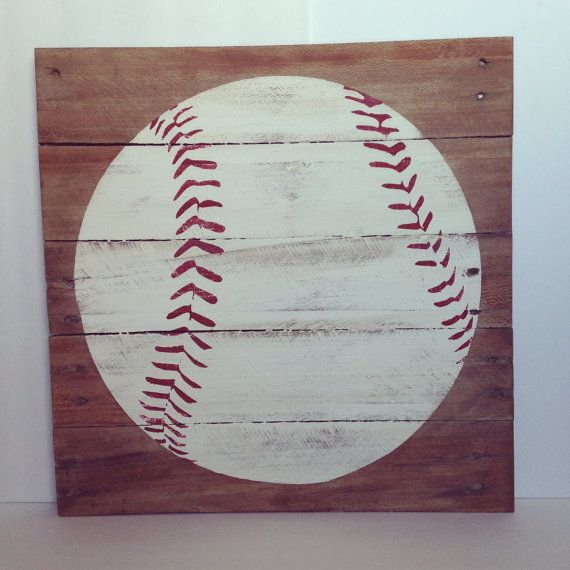 Baseball wood pallet sign by TheCreativePallet on Etsy