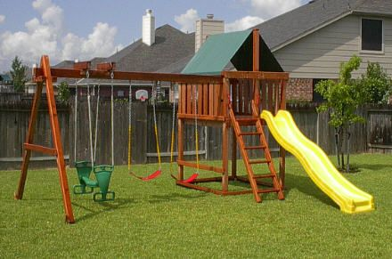 34 best images about swingsets playhouses on pinterest for Wooden jungle gym plans