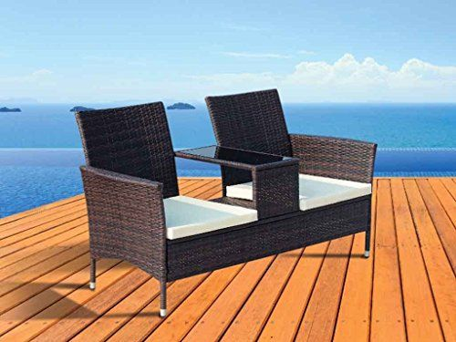 Two Seater Rattan Garden Furniture 18 best furniture syntetic rattan images on pinterest backyard fineway 2 seater rattan garden furniture patio love companion chair seat w workwithnaturefo