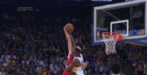 VIDEO: Festus Ezeli blocks Blake Griffin, Not in my house Blake! Warriors vs Clippers highlights