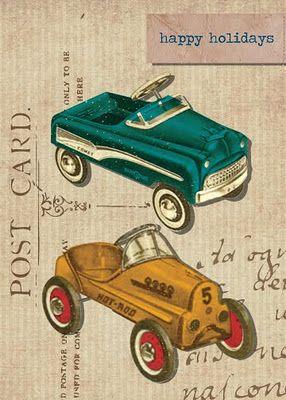 Illustrations: Vintage Postcards, Holiday Postcards, Vintage Pedal, Card S Vintage, Christmas Design, Pedal Cars, Peddle Cars, Cards 1