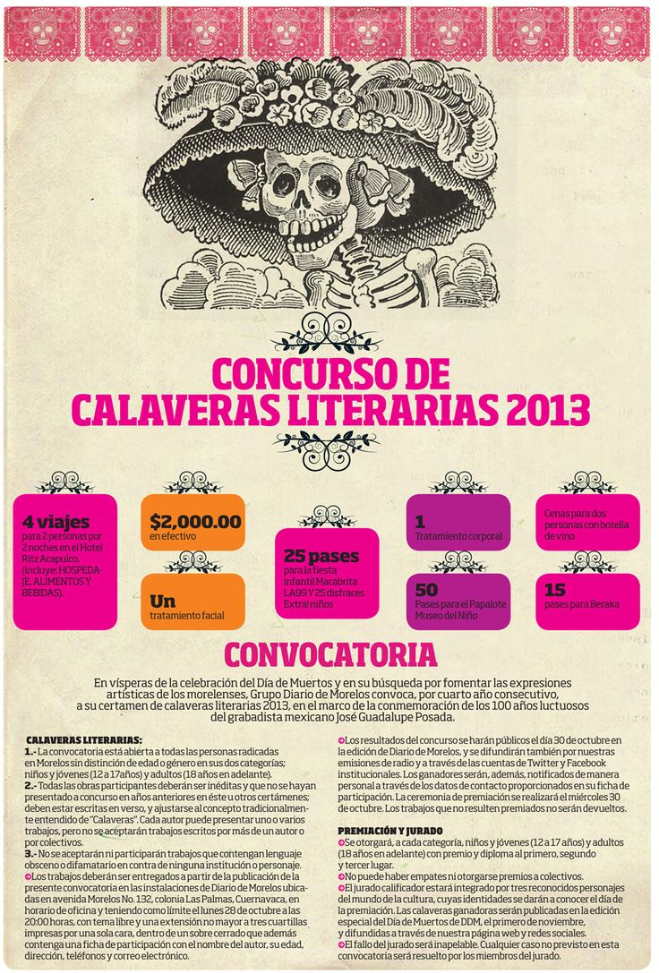Diario de Morelos | Convocatoria: Concurso calaveras literarias | Noticias