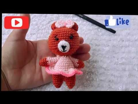 Crochet Your Own Mini Bear - YouTube | Háčkovaná zvířátka ... | 360x480