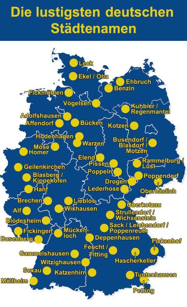 Die lustigsten deutschen Städtenamen