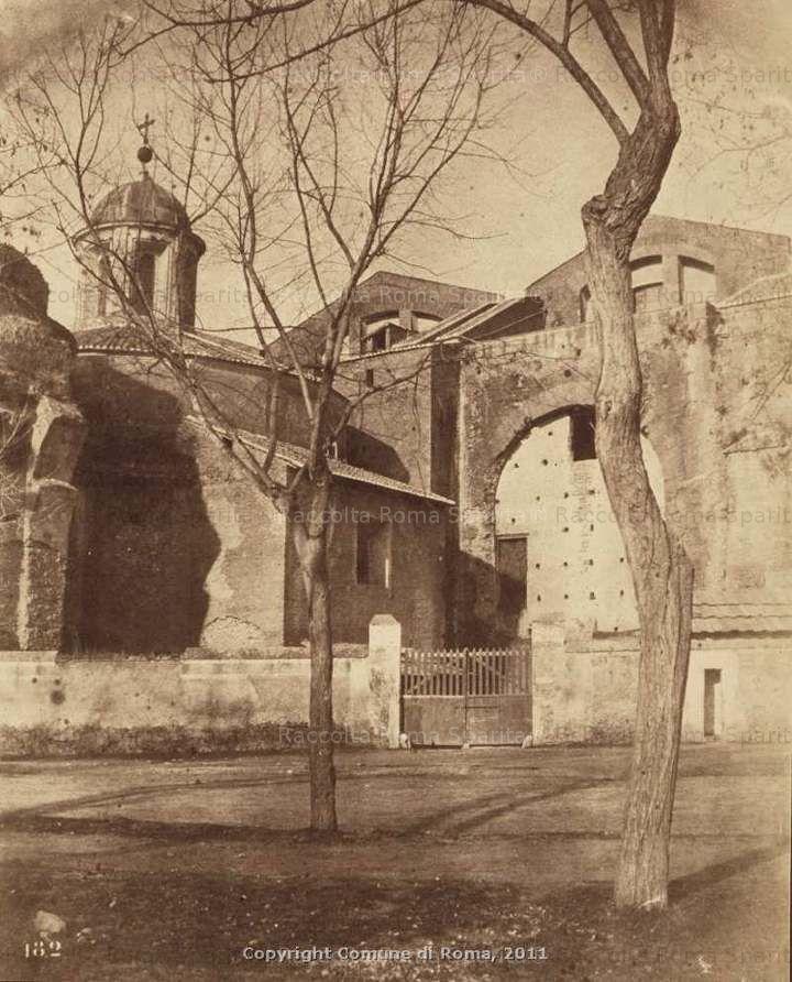 Santa Maria degli Angeli e terme di Diocleziano 1865