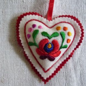 Embroidered Heart. Large