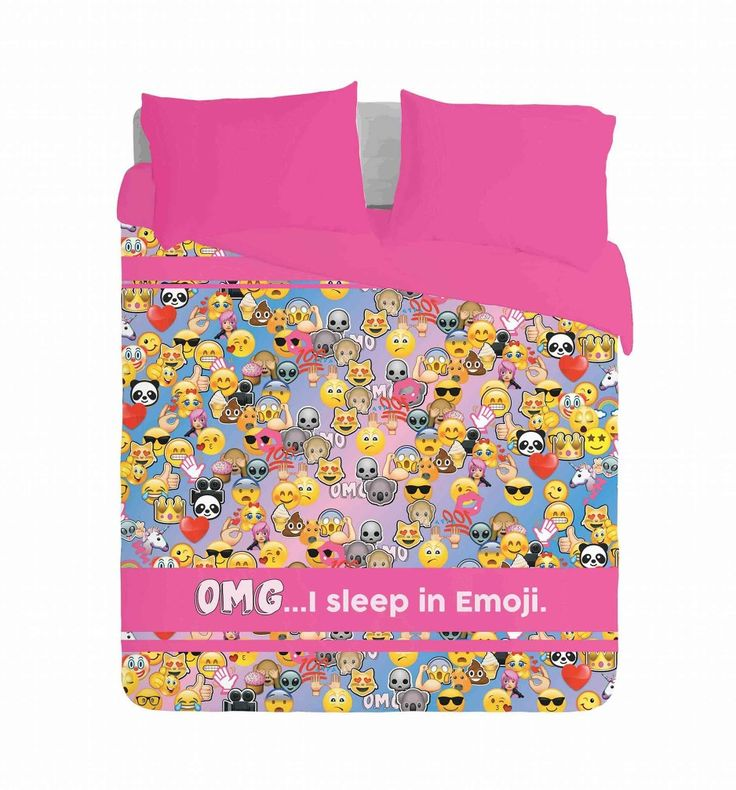OMG....I sleep in Emoji design by Imaginate Dècor  Email info@imaginatedecor.co.za