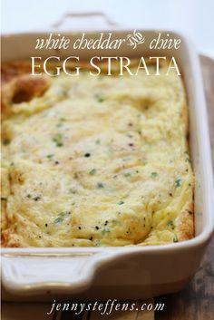 Jenny Steffens Hobick: White Cheddar & Chive Egg Strata Recipe