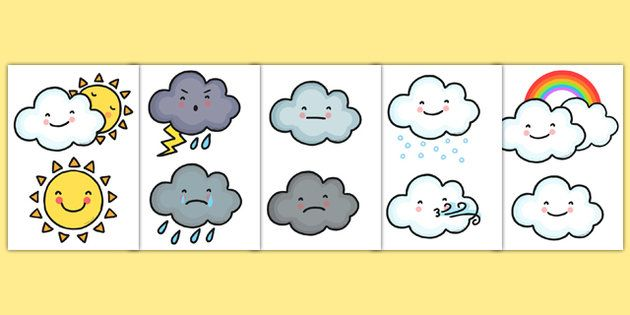 Weather Symbol Cut Outs - Weather, Cut Outs, Weather Symbols, Weather Symbol Cut…