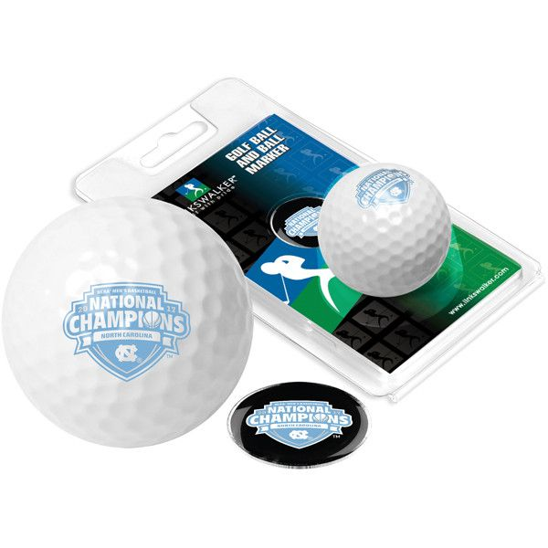 North Carolina 2017 NCAA Division I Men's Basketball Champions-Golf Ball One Pack with Marker