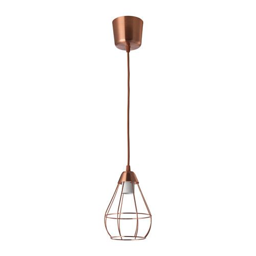 IKEA SLÄTTBO Pendant lamp Copper-colour 14.5 cm