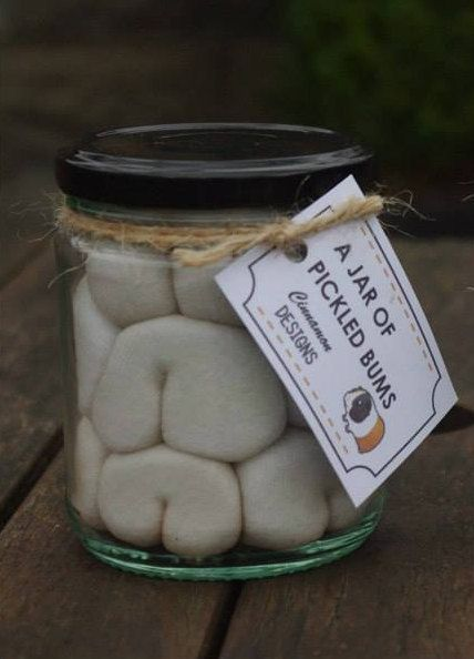 Our cheeky pickled bums make the perfectly novelty gift or stocking filler! Ideal gift for men, hen nights or just as a rude gift.  The jars are 3.5 inch tall and are made using recycled materials including a high quality glass jar. Please note that pickled bums are handmade so skin tones may vary slightly. Pickled people and Pickled boobs also available.   *EXTRA INFORMATION*  To help our customers save on delivery costs our standard delivery is via Royal Mail 2nd Class. If you would like…