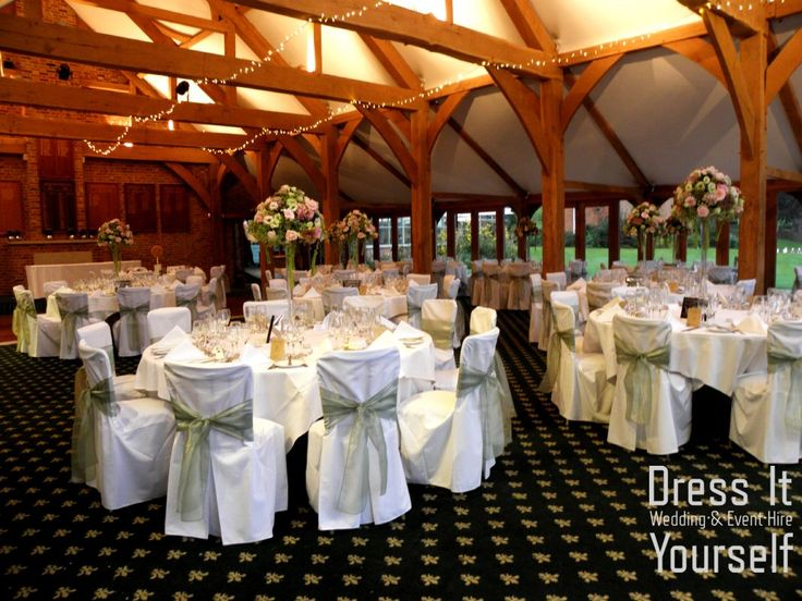 Brocket Golf Club - Oak Room - Wedding (226) Ideas for decorating your wedding breakfast in the Oak Room at Brocket Hall