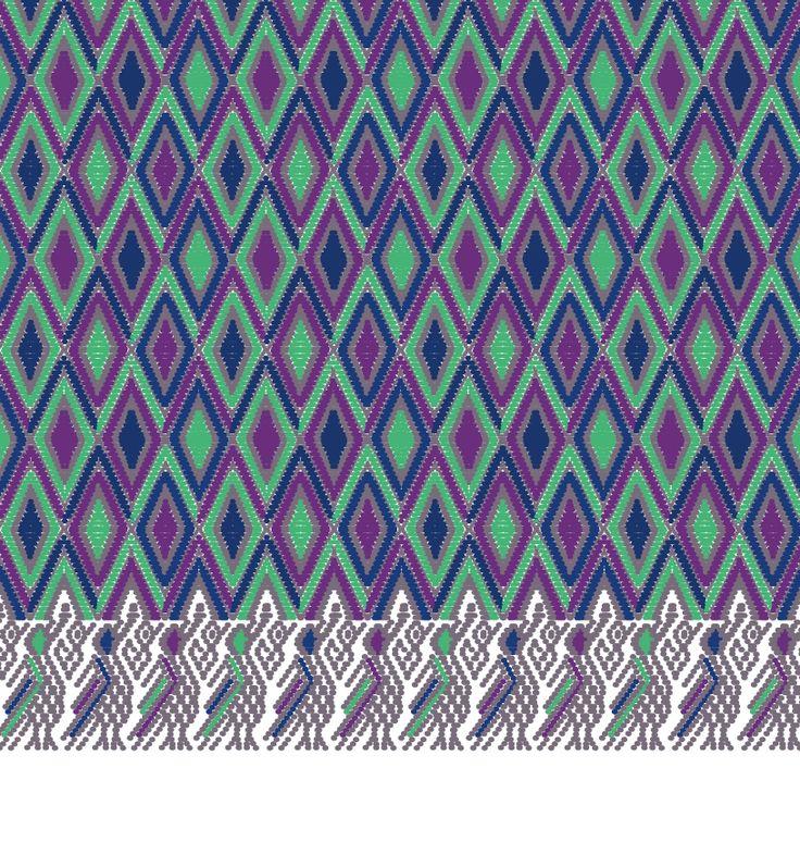 Santa María de Jesús, geometric pattern inspired by Guatemalan textiles.