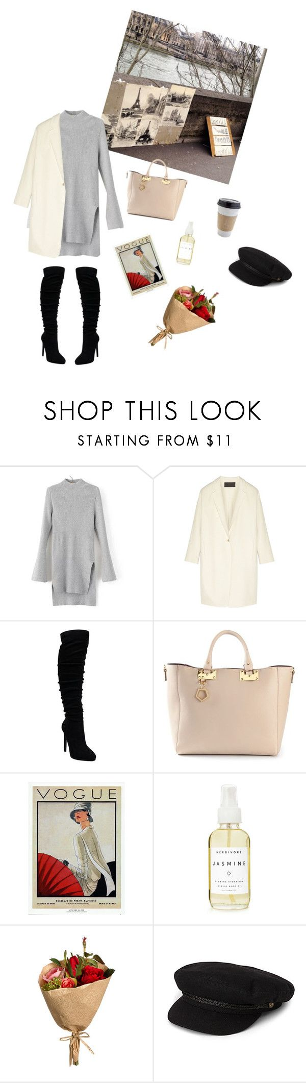 """""""Adieu"""" by respir ❤ liked on Polyvore featuring Donna Karan, Sophie Hulme, WALL, Herbivore and Brixton"""