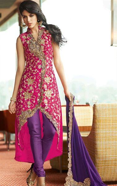 Pleasing Pink Color Wedding Salwar Kameez Hspsoh108 Www