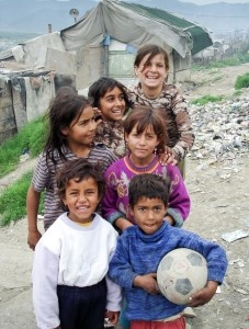 Soccer teaches children in Albania about friendship and peace. (S. Rhoads/WV/2009)