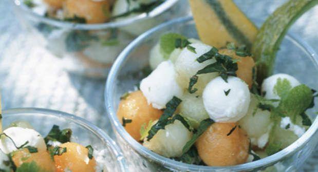 Salade de melonsVoir la recette de la Salade de melons >>