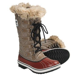 Sorel Tofino Canvas Pac Boots - Waterproof, Waxed Canvas (For Women) in Trail/Autumn Bronze