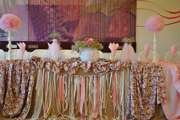 Vintange pink decoration..ribbons details