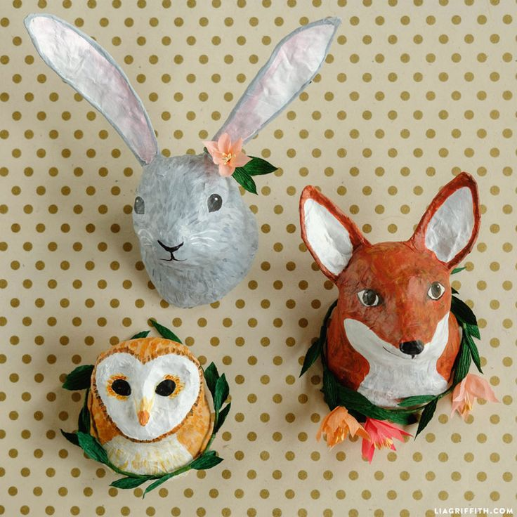 Learn how to make adorable paper mache animal heads for cruelty-free taxidermy at its most adorable. Follow our easy tutorial for crafty success