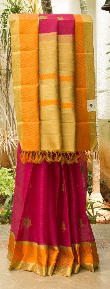 Kanchivaram Kora Silk L02815 | Lakshmi
