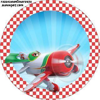 Aviões da Disney (Planes) – Mini Kit com molduras para convites, rótulos para guloseimas, lembrancinhas e imagens. | Fazendo a Nossa Festa