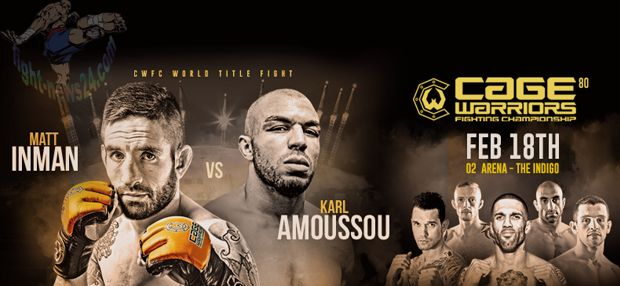 Cage Warriors 80 Live stream MMA Fight on Saturday 18 February 2017