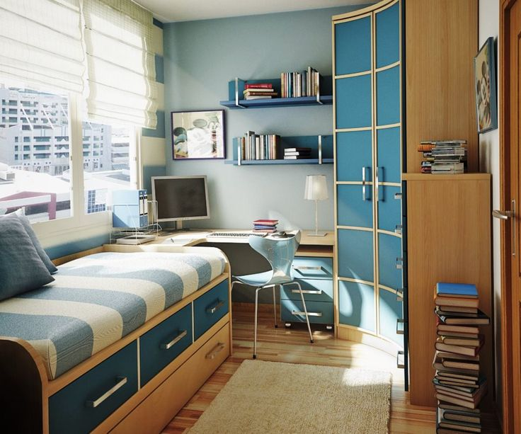 Ideas : Decorating Small Bedrooms Photos Gallery With Blue Theme Decorating  Small Bedrooms Photos Gallery Small Bedroom Designu201a Small Room Decoratingu201a  ...