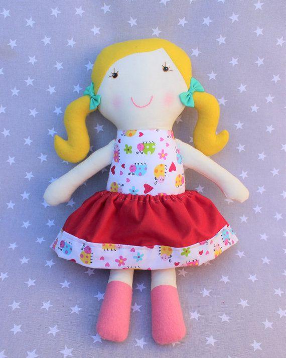 Muñeca Lola, niña, muñeca de trapo, personalizado, regalo, bebé , recién nacido , algodón