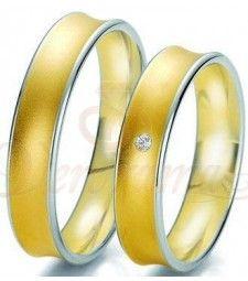 Βέρες γάμου δίχρωμες με διαμάντι Breuning 6239-6240