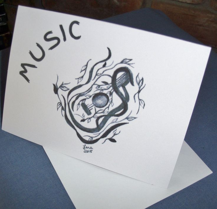 Greeting Card Music Greeting Card- Note Card by LoraArtandStationery on Etsy