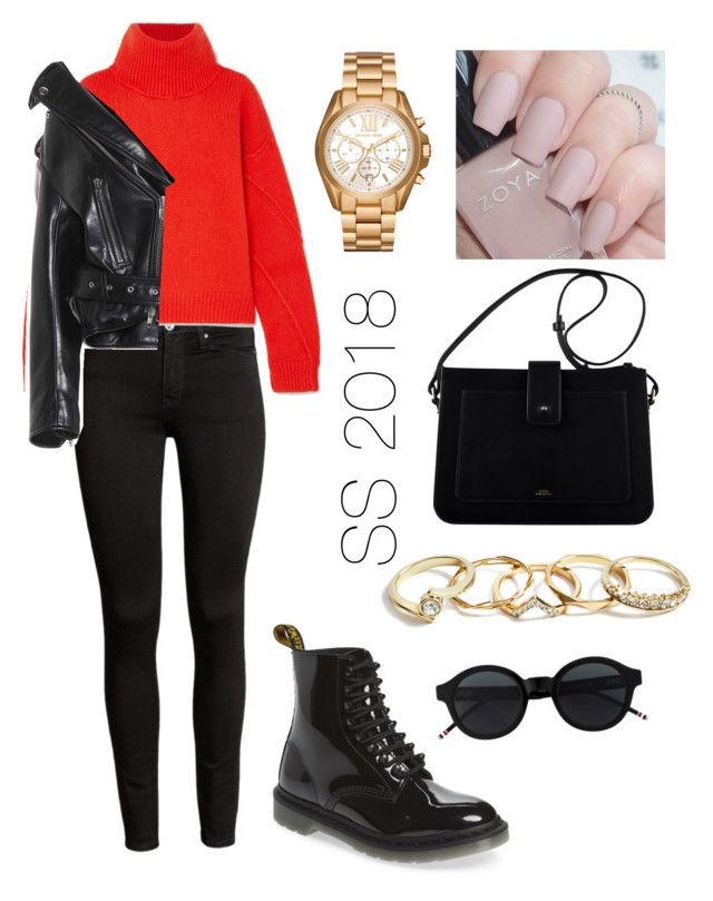 Bold by amandalowenborg on Polyvore featuring polyvore, fashion, style, Tory Burch, Balenciaga, Dr. Martens, Michael Kors, GUESS and clothing